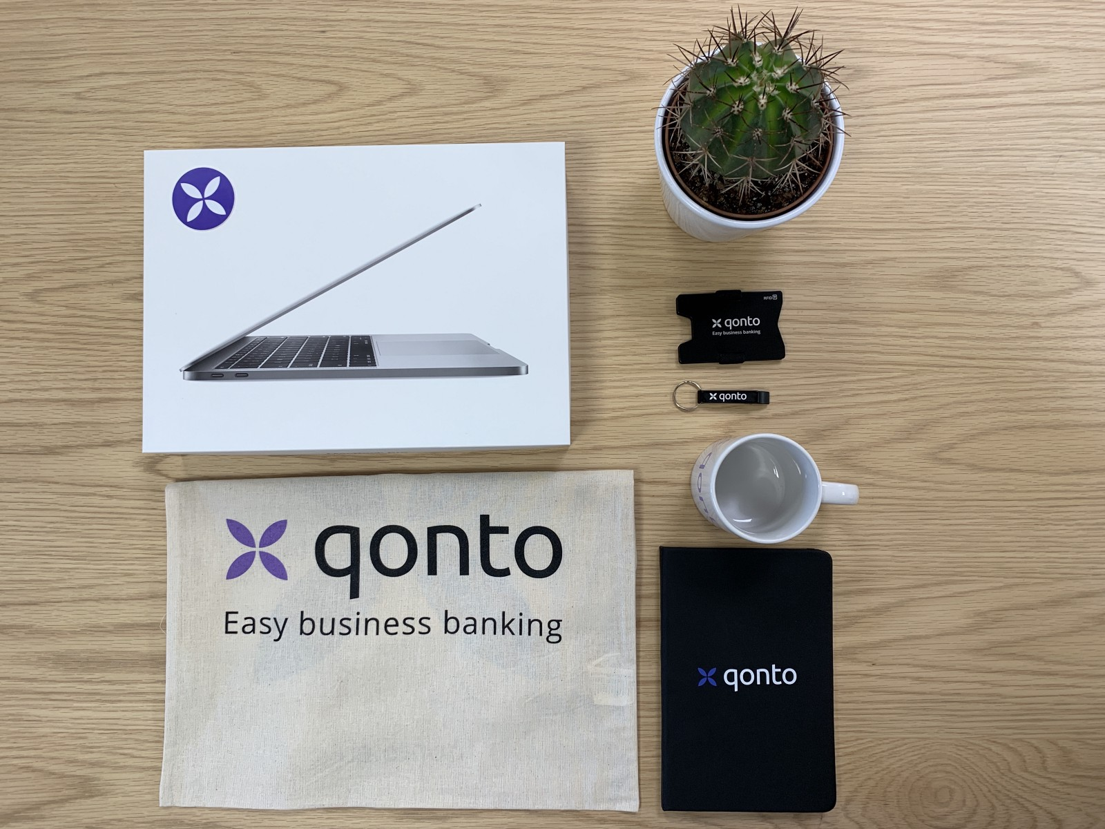 Welcome pack onboarding Qonto